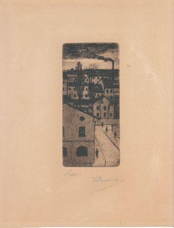 Gravure Russolo - TETTI (Roofs)