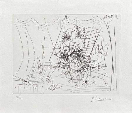 Gravure Picasso - Théâtre