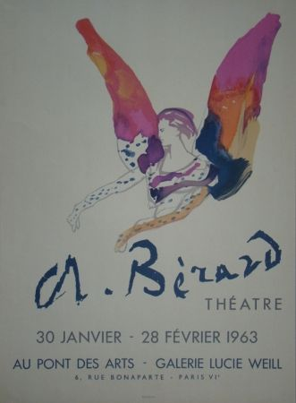 Lithographie Berard - Théatre