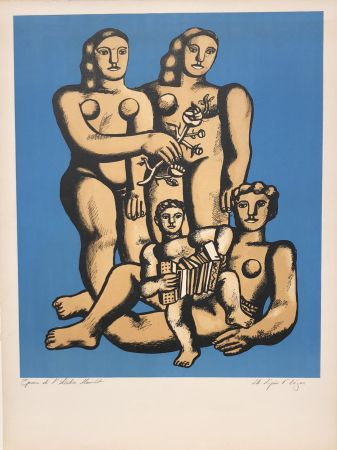 Lithographie Leger - The Accordionist's Family