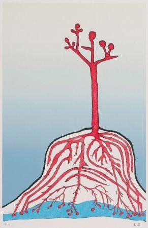 Lithographie Bourgeois - The Ainu Tree