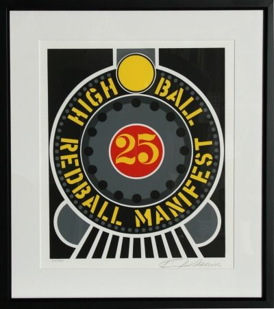 Sérigraphie Indiana - The American Dream: High Ball Redball Manifest