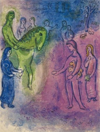 Lithographie Chagall - The Arrival of Dionysophane
