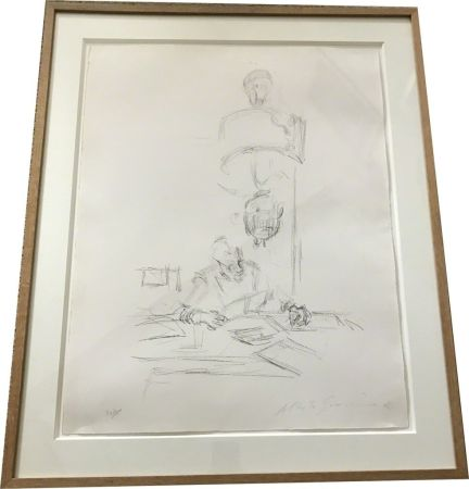Lithographie Giacometti - The artists mother reading