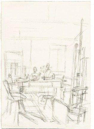 Lithographie Giacometti - The Artist's Studio