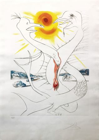 Eau-Forte Dali - The Caduseus Of Mars Nourished By The Ball Of Fire Of Jupiter