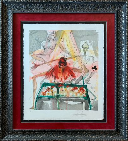 Lithographie Dali - The Cards Spell Death to Carmen