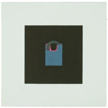 Gravure Craig-Martin - The Catalan Suite I - Padlock
