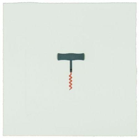 Gravure Craig-Martin - The Catalan Suite II - Corkscrew