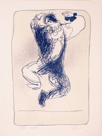 Lithographie Ripolles - The Clown