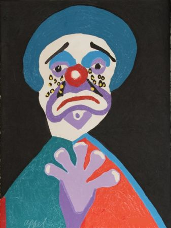 Eau-Forte Et Aquatinte Appel - The clown with the golden tears