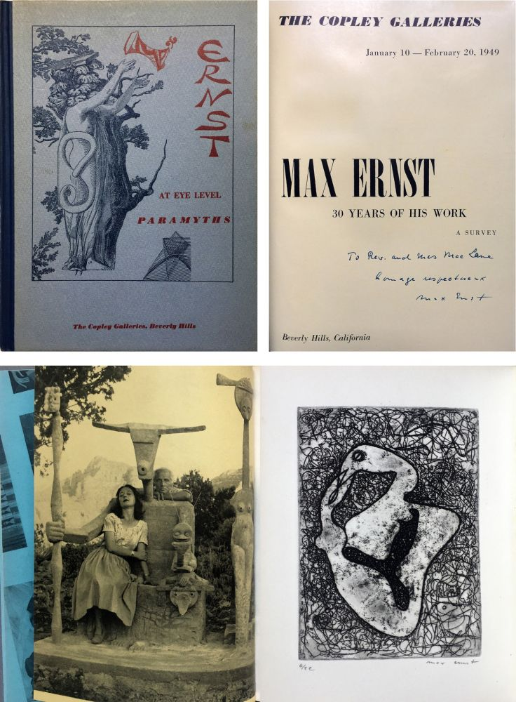 Eau-Forte Ernst - The Copley Galleries. At Eye Level. Paramyths. Max Ernst, 30 years of his work.
