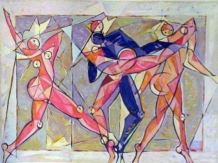 Lithographie Kahn - The Dance