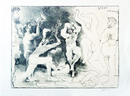 Lithographie Picasso - The Dance Of The Fauns