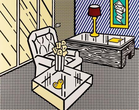 Gravure Sur Bois Lichtenstein - The Den, from Interior Series