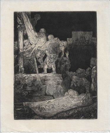 Gravure Rembrandt - The Descent from the Cross by Torchlight