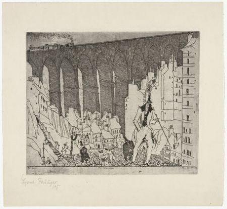 Gravure Feininger - The Disparagers