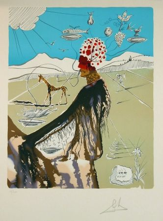Lithographie Dali - The Earth Goddess (The Chef)