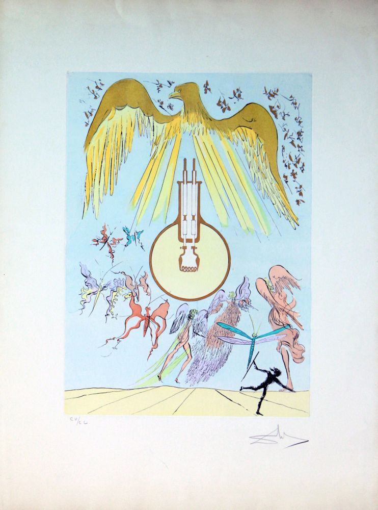 Eau-Forte Dali - The Electric Light Bulb
