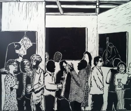 Linogravure Nhlengethwa - The Exhibition Launch