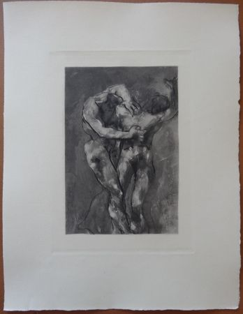 Eau-Forte Rodin - The Fight