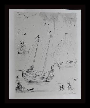 Lithographie Dali - The Fisherman