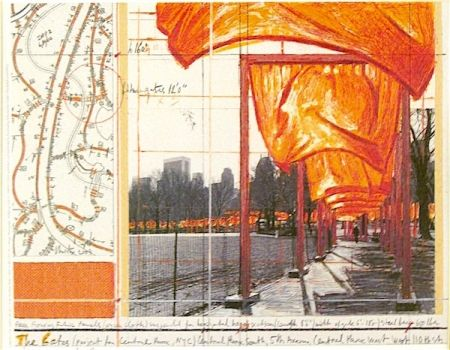 Lithographie Christo - The Gates (a)