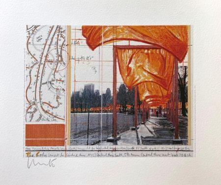 Lithographie Christo - The Gates (I)
