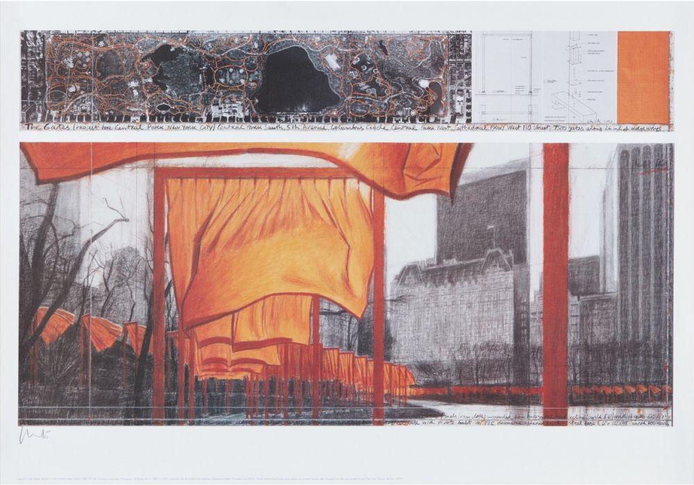 Lithographie Christo - The Gates (p)