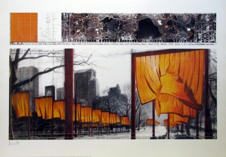 Lithographie Christo - The Gates, Project for Central Park, New York
