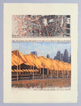 Lithographie Christo - 'The Gates, project for Central Park New York City