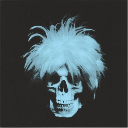 Sérigraphie English - The ghost of Andy Warhol - Blue on black