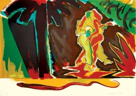 Lithographie Jones - The Glade (From the Island)