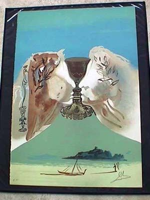 Lithographie Dali - The Golden Chalice