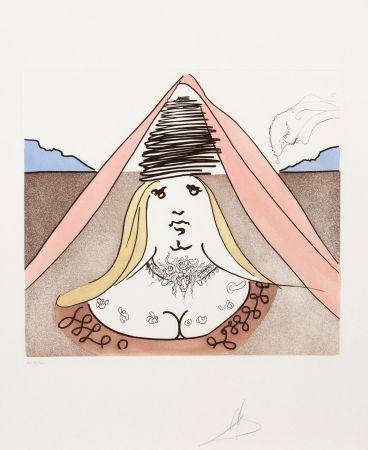 Gravure Dali - The Lady Dulcinea from Historia de Don Quichotte de la Mancha