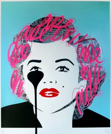 Sérigraphie Pure Evil - The last Marilyn (pink tags)