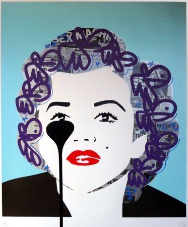 Sérigraphie Pure Evil - The last Marilyn (plum bunnies)