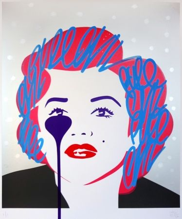 Sérigraphie Pure Evil - The last Marilyn (silver dots)