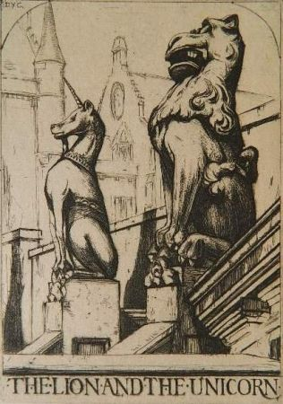 Gravure Cameron - The Lion and the Unicorn