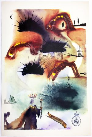 Héliogravure Dali - THE LOBSTER QUADRILLE  (From Alice in Wonderland. New-Yok 1969).