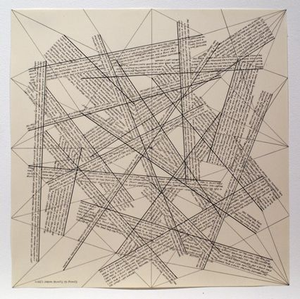 Gravure Lewitt - The Location of Lines. Lines from Points to Points.