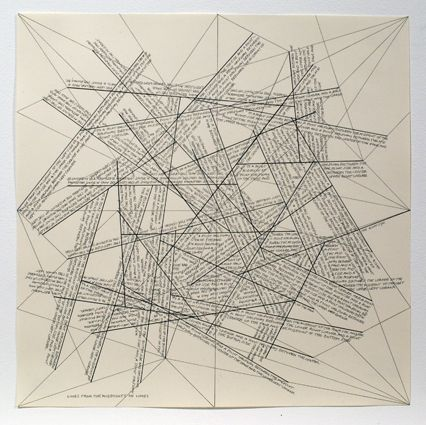 Gravure Lewitt - The Location of Lines. Lines from the Midpoints of Lines.