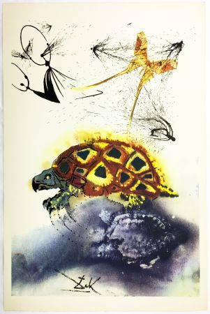 Héliogravure Dali - THE MOCK TURTLE'S STORY (From Alice in Wonderland. New-Yok 1969).
