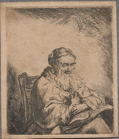 Gravure Bol - The Old Man with a Leaf of Trefoil on His Coat