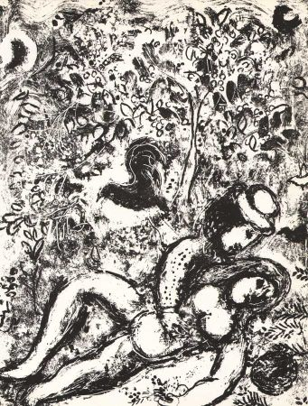 Lithographie Chagall - The Pair in a tree