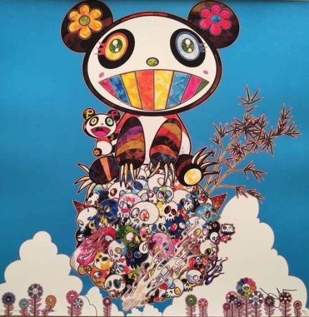 Lithographie Murakami - The Pandas say they are happy