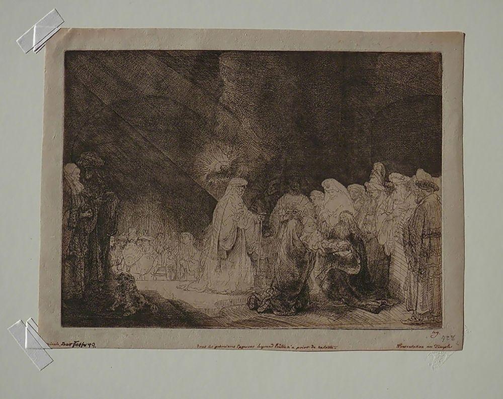 Gravure Rembrandt - The Presentation in The Temple