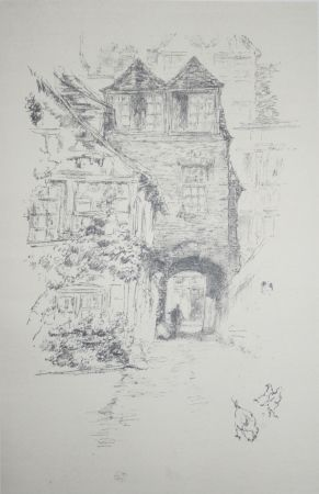 Lithographie Whistler - The Priest's House, Rouen