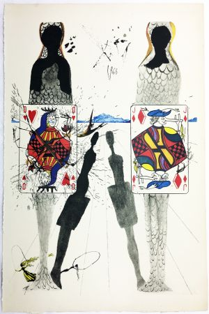 Héliogravure Dali - THE QUEEN'S CROCKET GROUND (From Alice in Wonderland. New-Yok 1969).