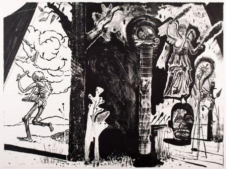 Lithographie Deroubaix - The Rat Race